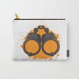 Handcuffs, gift police prison Carry-All Pouch