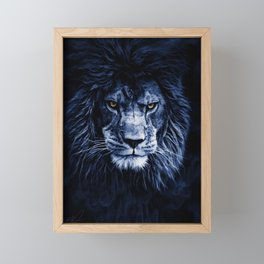 PANTHERA LEO Framed Mini Art Print