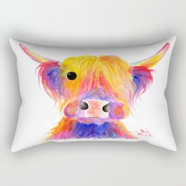 Scottish Highland Cow ' HOOTIE ' by Shirley MacArthur Rectangular Pillow