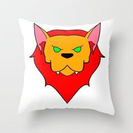 Regal Werecat Throw Pillow