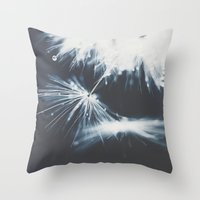 indigo Throw Pillows featuring indigo by Ingrid Beddoes photography