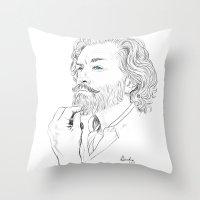 xena Throw Pillows featuring Timothy Omundson by IamDeirdre