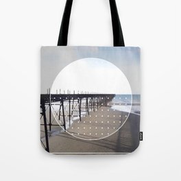 Victorian Pier - circle graphic Tote Bag