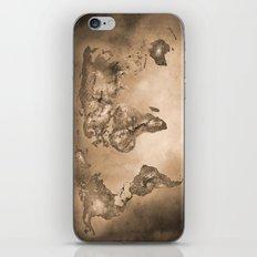 Stars world map. Sepia iPhone & iPod Skin