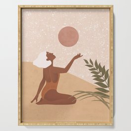 Strawberry Full Moon - Manifest your Desires and Wishes Serving Tray
