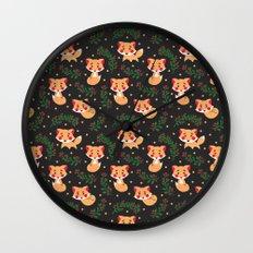 The Fox Pattern Wall Clock