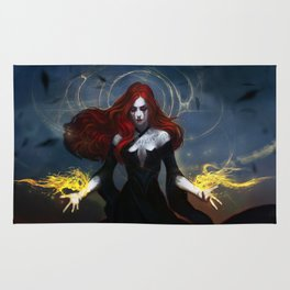 Red tearf of the black witch Rug