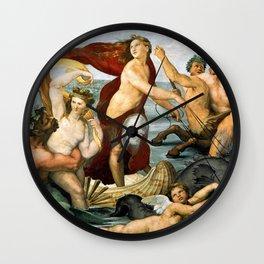 """Raffaello Sanzio da Urbino """"Galatea"""", 1512 Wall Clock"""