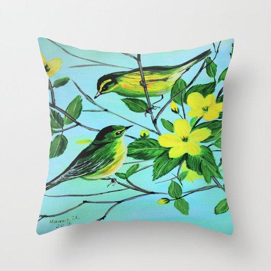 Thinking of spring  Throw Pillow