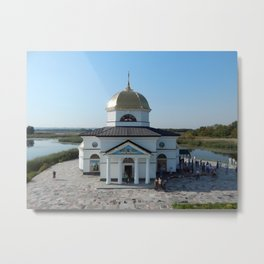 Architecture of the church sacred monastery buildings Metal Print