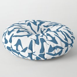 Shoes Navy on White Floor Pillow