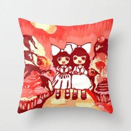 Lollipop Girls. Throw Pillow