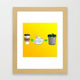 Coffee Math Framed Art Print