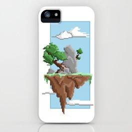Pixel Landscape : Flying Island iPhone Case