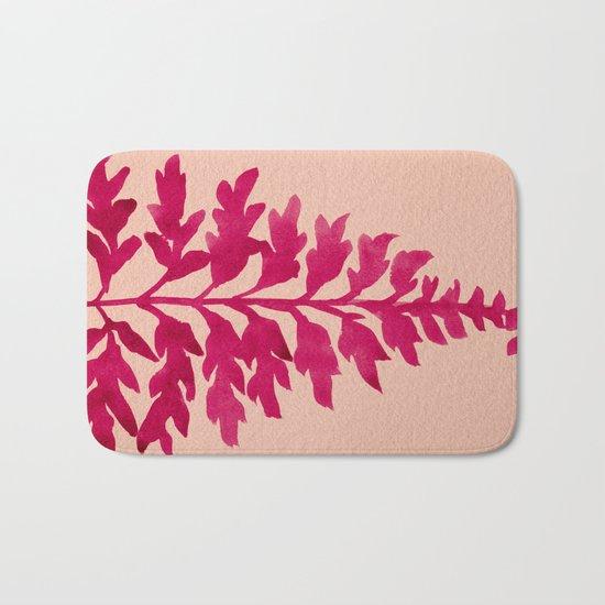 Pink Fern Bath Mat
