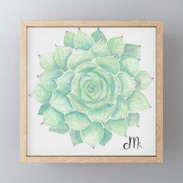 Watercolour succulent Framed Mini Art Print