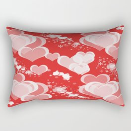 Floating Hearts And Flowers Rectangular Pillow