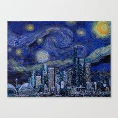 Seattle Starry Night Canvas Print