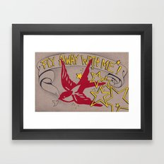 Fly Away With Me! Framed Art Print