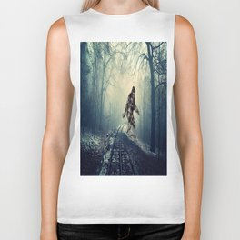Misty Railway Bigfoot Crossing Biker Tank