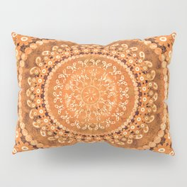 Boho Pumpkin Spice Mandala Pillow Sham