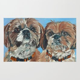 Shih Tzu Buddies Dog Portrait Rug