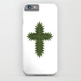 Weed Cross - Marijuana THC CBD Stoner iPhone Case