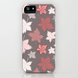 Maple Leaves - Dusty Rose iPhone Case