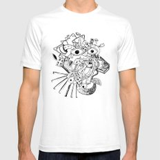 Cara de Sociedad White SMALL Mens Fitted Tee