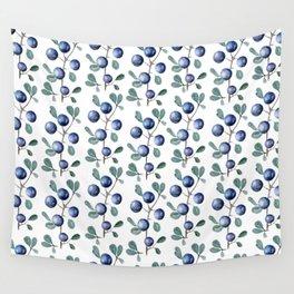 Blackthorn Blue Berries Wall Tapestry