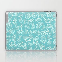 Bikes in a blue background Laptop & iPad Skin