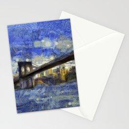 Brooklyn Bridge New York Art Stationery Cards