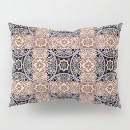 Brown lace ornament. Pillow Sham