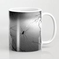 spider Mugs featuring Spider by Gwlad Sas