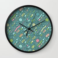 biology Wall Clocks featuring Microbes by Anna Alekseeva kostolom3000