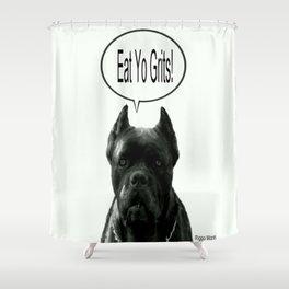 Riggo Monti Design #18 - Eat Yo Grits! Shower Curtain