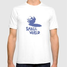 Small World Mens Fitted Tee MEDIUM White
