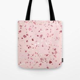 Pink Quartz Glitter Terrazzo Tote Bag