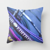 hercules Throw Pillows featuring Hercules Edition by KitsuneTea