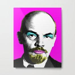 Ooh Mr Lenin - Pink Metal Print