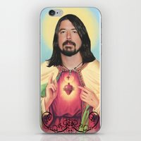 dave grohl iPhone & iPod Skins featuring Dave Grohl by Michelle Wenz