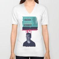 kerouac V-neck T-shirts featuring ... Best Teacher | Jack Kerouac by PhraseCrowd