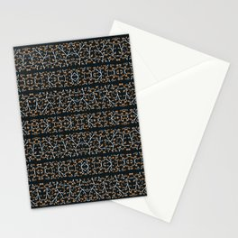 Floral Lace Stripes Print Pattern Stationery Cards