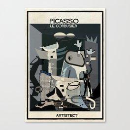 picasso+Le Corbusier Canvas Print