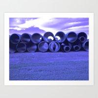 Purple Structure  Art Print