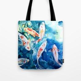 Koi Fish Watercolor by Julesofthsea Tote Bag