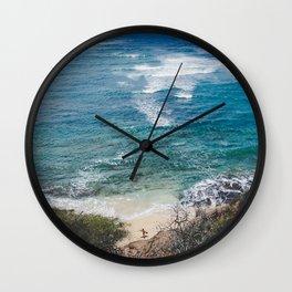 Surfer meets Sea - Diamond Head / Oahu / Hawaii Wall Clock