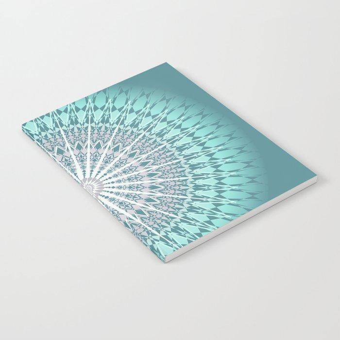 Teal Mandala Medallion Notebook