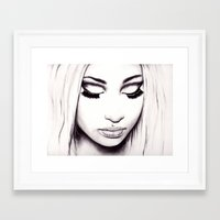 nicki Framed Art Prints featuring  Nicki  by Bella Harris