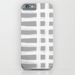 grey and white gross stripes iPhone Case
